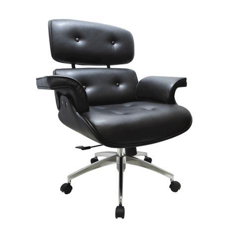 Poltrona Charles Eames Office Vinil Preto - Industria das cadeiras ...