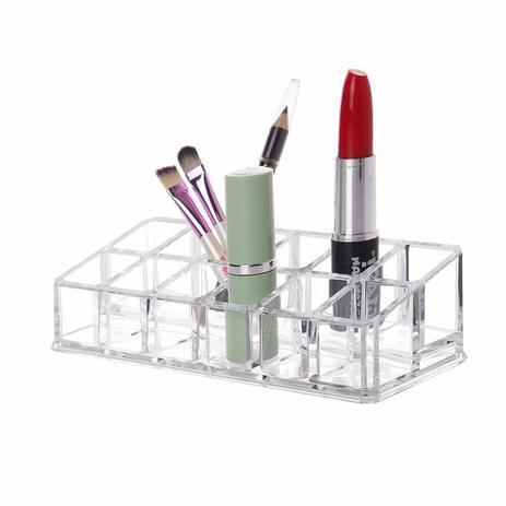 Imagem de Porta Batom Maquiagem Organizador Com 12 Divisões Acrílico