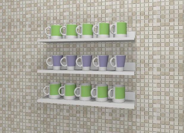 Imagem de Porta canecas para decoração com kit de instalação fred planejados