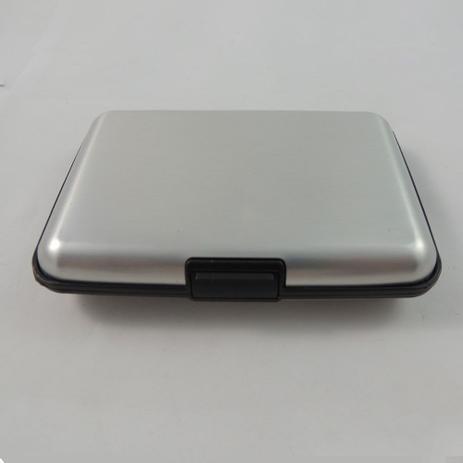 Imagem de Porta Cartão de Alumínio com 6 espaços - Ideal para Organizar - Cartões - Dinheiro - Fotos - Black