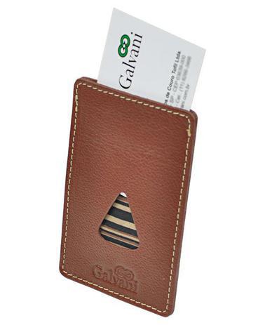 Porta Cartões de Visita Tiziu em Couro legítimo - Galvani - Carteira ... 5223a6391a8