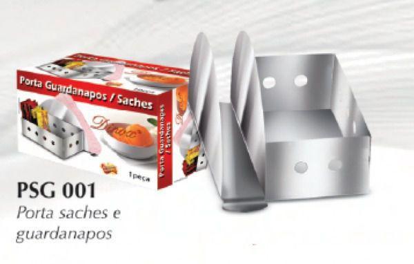 Imagem de Porta Guardanapos e Porta Saches em Inox