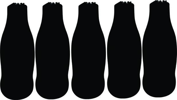 Imagem de Porta Long Neck Preto Kit com 5 Unidades