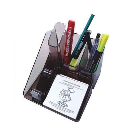 Imagem de Porta Objetos com Suporte para Fita Adesiva Grafite 6u Menno