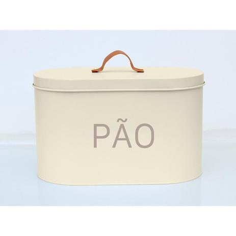Imagem de Porta Pão Off White e Cinza 20.5cm - A/CASA