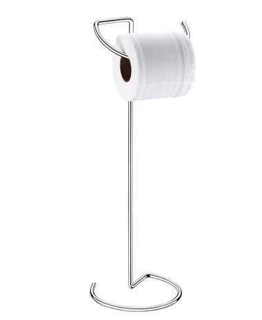 Imagem de Porta Papel higienico inox de chão 49 cm aramado banheiro Future