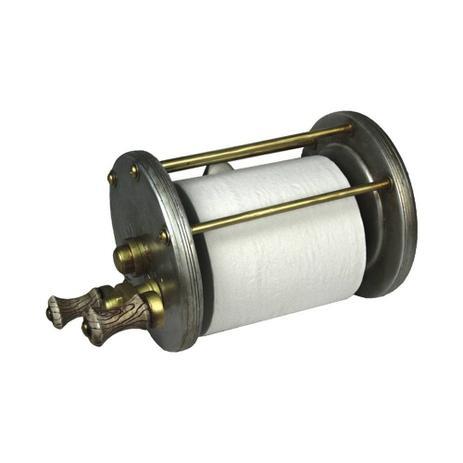Imagem de Porta papel higiênico NTK em formato de molinete para colecionadores de pesca