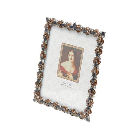 Imagem de Porta Retrato 15x20cm De Latão Com Strass Nelly Prestige - R3800