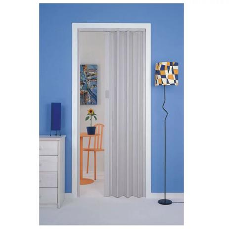 Imagem de Porta Sanfonada Plasbil Cinza 0,80cm x 210cm