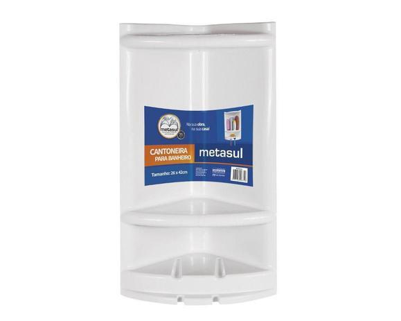 Imagem de Porta Shampoo de Canto Branco Em Plástico