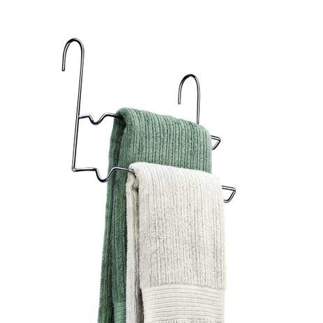 Imagem de Porta toalha duplo para box cromado Premium Arthi