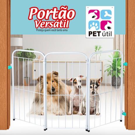Imagem de Portão Versátil Delimitador Dobrável Para Crianças E Pets