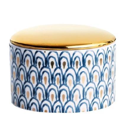 Imagem de Pote com Tampa em Cerâmica Abstract 5x7cm