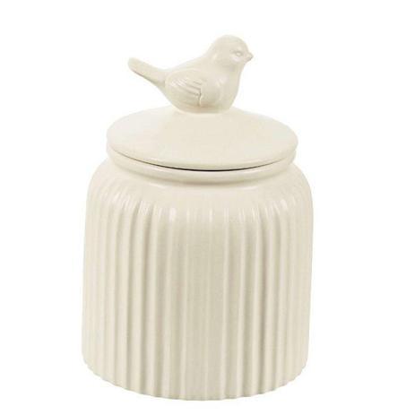 Imagem de Pote Decorativo em Ceramica Passaro Nude MART 7950