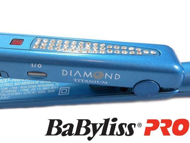 0aac8c3e2 Prancha Babyliss Pro Diamond Titanium Strass 1 1/2 25mm - 110v ...