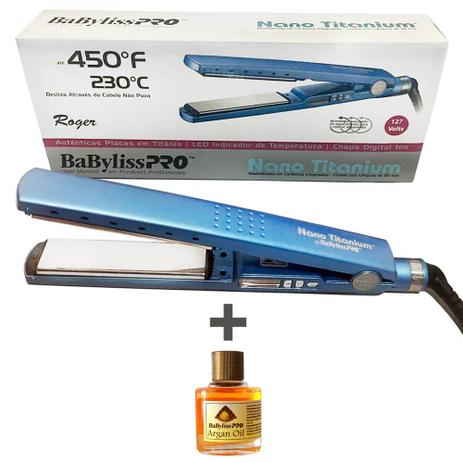 d247baec9 Prancha BabyLiss Pro Nano Titanium 1 1/4 + Oleo de Argan 8ml ...