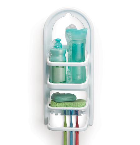 Imagem de Prateleira Suporte De Banheiro Porta Shampoo 18X45X76Cm