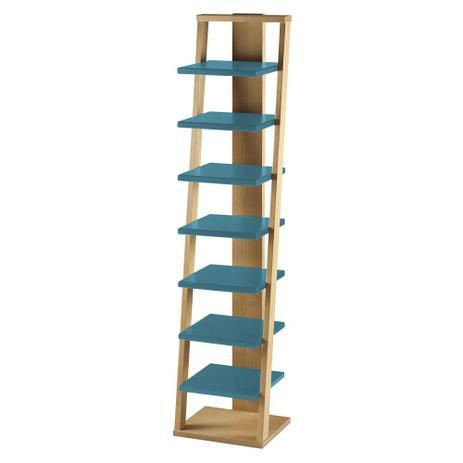 Menor preço em Prateleira Suspensa Stairway 1132 Palha/Azul - Máxima móveis