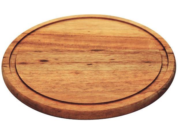Prato para Churrasco de Madeira Redondo - Tramontina 10004/100