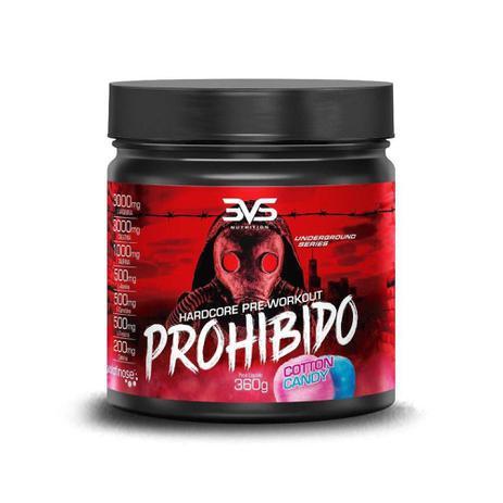 Imagem de Pré Treino Prohibido 360g Algodão Doce 3vs Nutrition