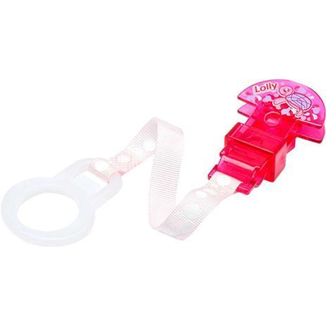 Imagem de Prendedor de chupeta rosa oceano lolly