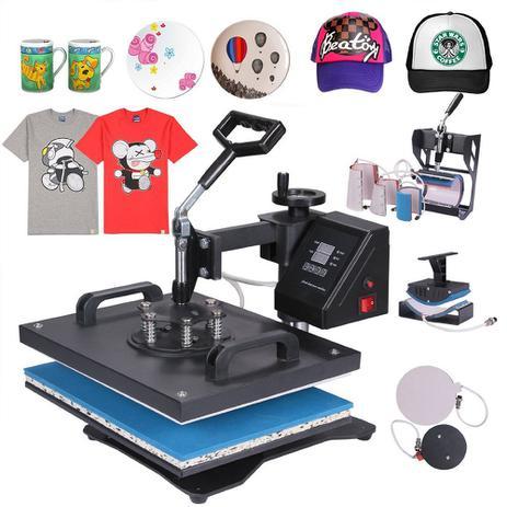 Prensa Térmica Manual 8 em 1 - Camisetas - Bones - pratos - Canecas -  Azulejos e Chinelos - Sun special 6d278fa6ff9c4