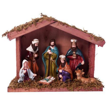 Imagem de Presepio Com Estabulo Nascimento 16cm Espressione Christmas