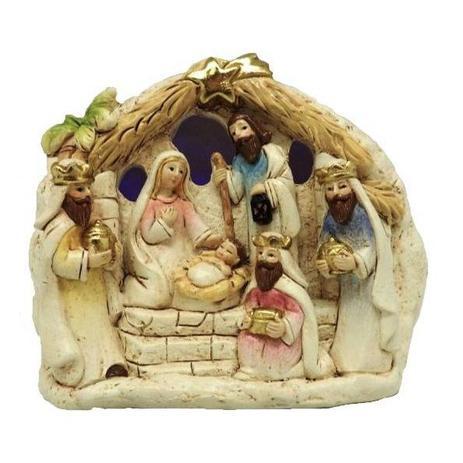 Imagem de Presépio de natal mini sagrada familia com led