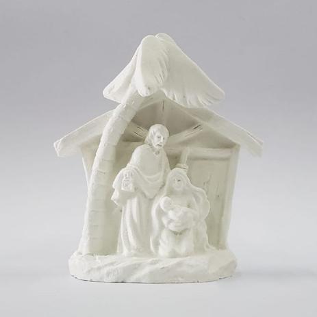Imagem de Presépio em resina sagrada família 6 x 4,5cm