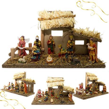 Imagem de Presépio Ricamente Detalhado Enfeite Natal Sagrada Família