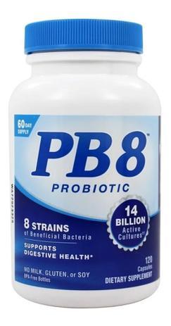 Imagem de Probiótico PB8 14 Bilhões Nutrition Now 120 Cápsulas