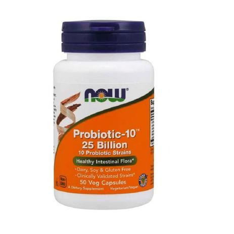 Imagem de Probiótico Probiotic-10 25 Billion (50 Cápsulas) - Now Foods