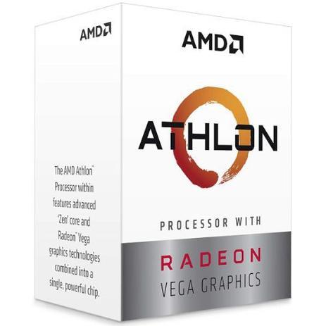 Imagem de Processador athlon 3000g am4 dual-core 3.5 ghz yd3000c6fbbox  amd