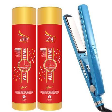 8f91893b7 Progressiva Zap Professional e Chapinha Prancha Nano Titanium 1 1/4 Até  450ºf - Bivolts - Lilimagazine
