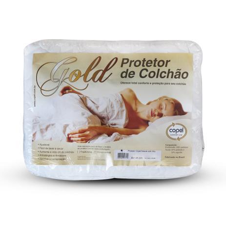 6cf880a46 Protetor de Colchão QUEEN SIZE Gold Impermeável - 158x198 - Bela ...