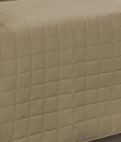 Imagem de Protetor de Sofá 2 e 3 Lugares Tecido Microfibra com Porta Objeto 2 Peças - Cáqui