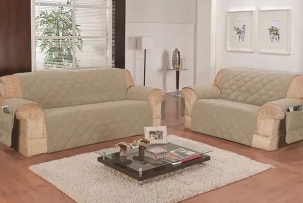 Imagem de protetor de sofa promoçao 3x2 lug avela costurado