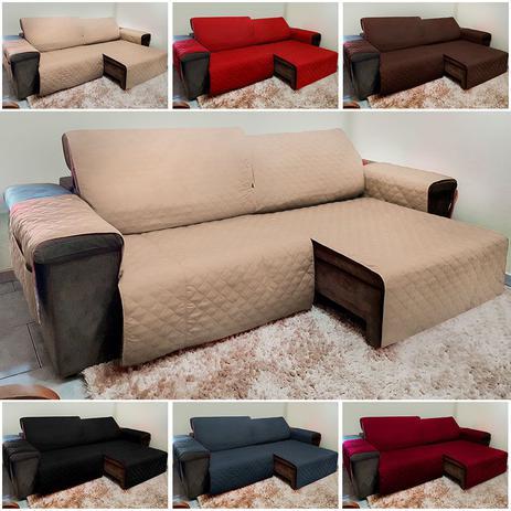 Imagem de Protetor De Sofá Retrátil E Reclinável para Assento de 1,80m