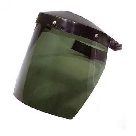 """299c4101061fa Protetor facial 8"""" com catraca (Verde) - Carbografite - Equipamento ..."""