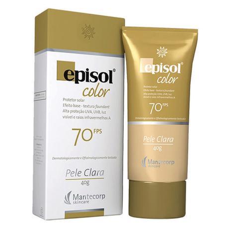 Imagem de Protetor Solar Color Pele Clara FPS 70 Episol Mantecorp Skincare 40g