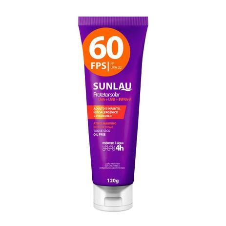 36e246beeee43 Protetor Solar Sunlau Fps 60 Com Vitamina E 120g REF.  022054 ...