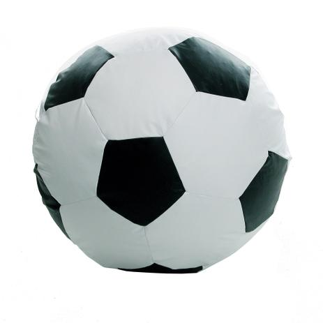 47d0376924 Puff Ball Futebol Infantil Corino Branco e Preto - Stay puff - Puffs ...