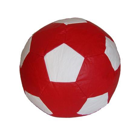40799d07bb Puff Ball Futebol Infantil Corino Vermelho e Branco - Stay puff ...