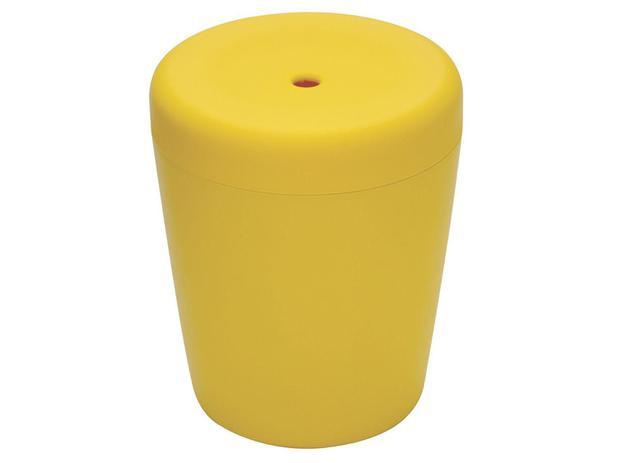 Imagem de Puff Baú Redondo Infantil Amarelo