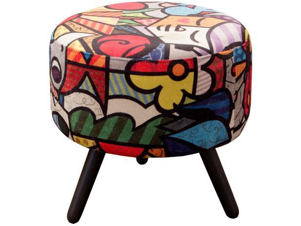 Imagem de Puff Decorativo Redondo Alegria