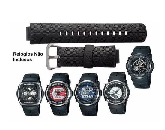 9f20f68c7af Pulseira Casio G-shock G-300 G-301 G-350 G-306 G-314 - Pulseira e ...