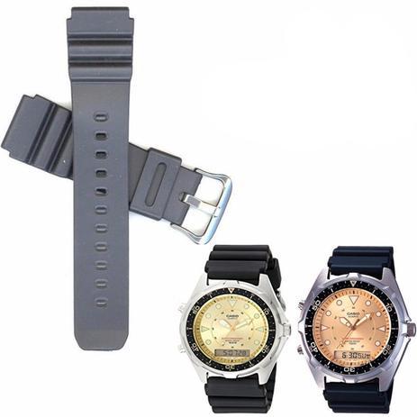 37d6d7e3e5e Pulseira Compatível para Relógio Casio Aq 600 de Silicone Preta - Oficina  dos relogios