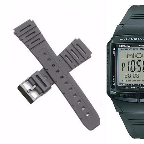 b2c0b93915c Pulseira Compatível para Relógio Casio DB-36 de Silicone Preta - Oficina  dos relogios