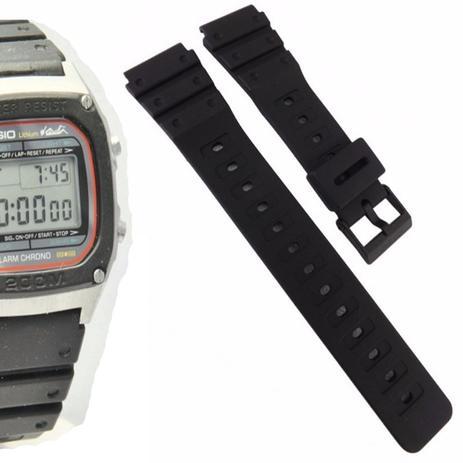 245fc678127 Pulseira Compatível para Relógio Casio DW 1000 de Silicone Preta - Oficina  dos relogios
