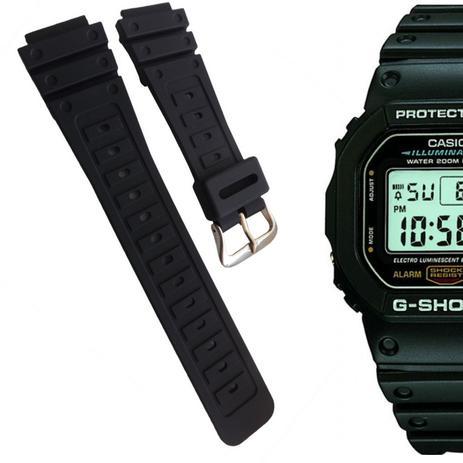 Pulseira Compatível para Relógio Casio DW5600 de Silicone Preta - Oficina  dos relogios e540ceb06985c